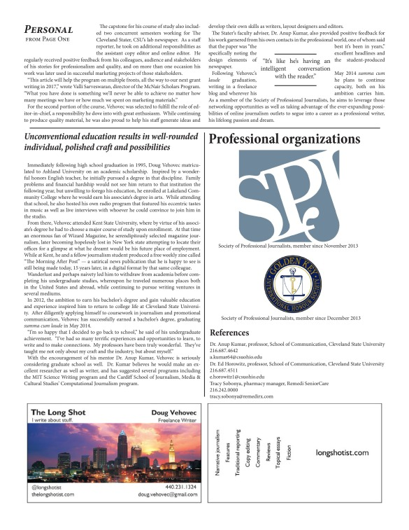 InDesign CS6 Narrative Resume page 2