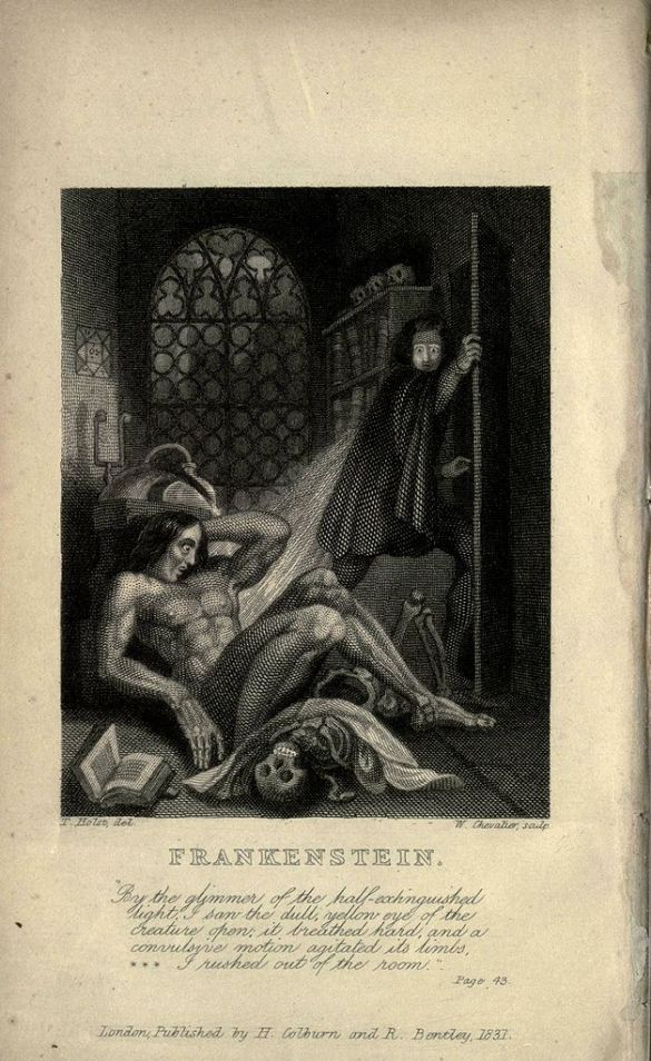 Frankenstein inside cover