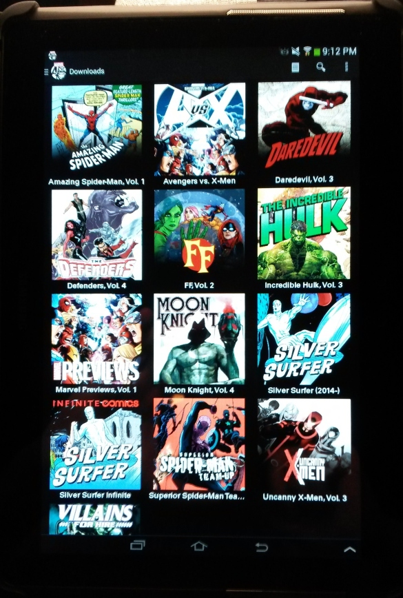 Snapshot of my digital collection.  What can i say except Make Mine Marvel!