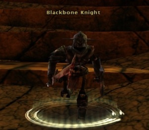 Once you hit wizzy 9, your skeletal pal takes on a darker appearance like this Blackbone Knight