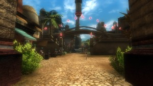 The marketplace plaza up the stairs from the Rusty Nail has hireling vendors for various level ranges.