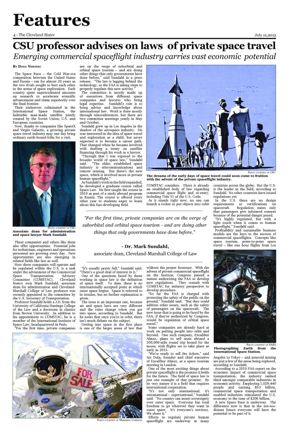 The page as it originally appeared in The Cleveland Stater, volume 15, issue 1 on 7.11.13. Click the image to check out the online version at the Stater website.