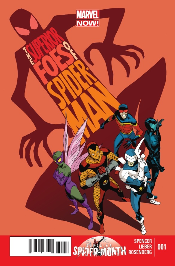 Cover to The Superior Foes of Spider-Man #1, art by Steve Lieber.