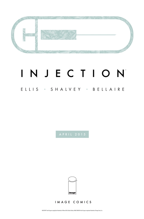 Promo print for the upcoming Injection comic