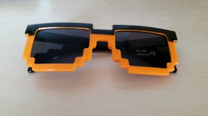 8-bit themed sunglasses that you will not find anywhere else. Retro stuff is cool right?