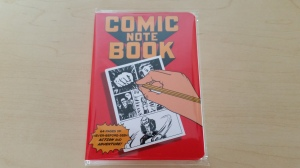 Each page of this comic book notebook has pre-drawn comic panels, so you can create your own epic comic book.