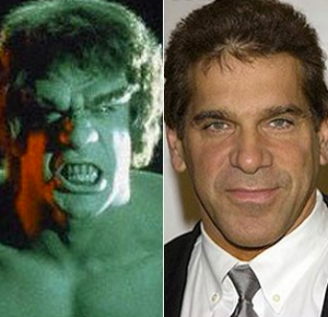 Lou Ferrigno's most well-known work - he played the Hulk on the beloved television show