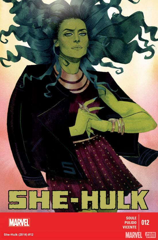 She-Hulk #12 cover, final issue of one of 2014's very best